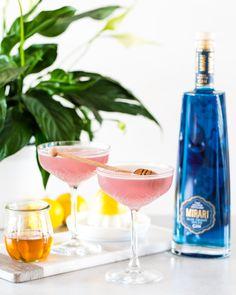 50ml Mirari Blue Gin 25ml Fresh Lemon Juice 2 tsps Honey Blue Gin, Juice 2, Bees Knees, Fresh Lemon Juice, Distillery, Alcoholic Drinks, Spices, Honey, Liquor Drinks