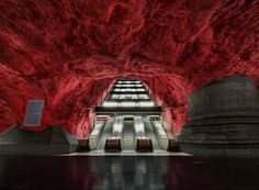 The world most beautiful metro stations - Solna Station, Stockholm, Sweden