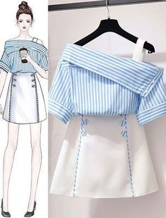 Korean Women's Fashion Ideas 1247772079 – Ruffles fashion… - Korean fashion Set Fashion, Teen Fashion Outfits, Look Fashion, Stylish Outfits, Girl Fashion, Cute Outfits, Fashion Ideas, Korea Fashion, Classy Fashion