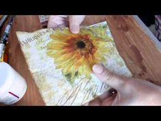 Cómo hacer más resistentes tus servilletas para decoupage - How to streghten your napkins - YouTube