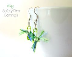 Ef Zin Creations: Safety Pin Earrings!!!