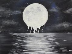 Melty Moon by Ed Capeau Painting Print on Wrapped Canvas