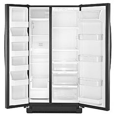 Kenmore- -25.2 cu. ft. Side-by-Side Refrigerator - Black ENERGY STAR®