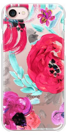 Casetify iPhone 7 Snap Case - Mona Floral Clear by Crystal Walen
