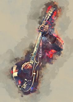 James Hetfield Guitar Pop Art Poster Print | metal posters - Displate