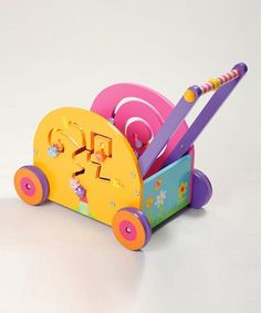 Eco friendly wooden toys in gorgeous colors from Zulily