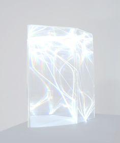 Light Catalyst (Optical fibres and pexiglass) by Carlo Bernardini