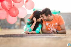 Pre-wedding shots with balloons look super cute and romantic! | Weddingz.in | India's Largest Wedding Company | Wedding Venues, Vendors and Inspiration