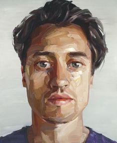 #Art #Faces - expressionist paintings, modern, artist, nick lepard http://www.ablankcanvas.net #OilPaintingPortrait