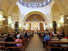 Service at Rosary Basilica on June 28, 2014, in Lourdes, France. Photo by Dennis Jarvis courtesy of Flickr Commons