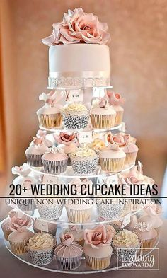 Wedding cupcake contunie to be the trend for all seasons of wedding. These sweet layers allow you to avoid messy cake cutting and be decorated in many ways.