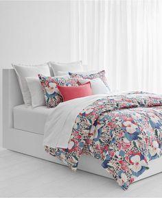 Lauren Ralph Lauren Sophie Cotton Floral 3-Pc. Full Queen Duvet Set Bedding 55471b03eb1bd