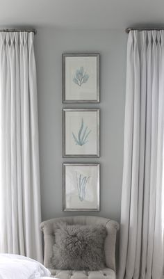 Stephanie Shaw Design 2011.  Benjamin Moore Gray Cashmere. Griege linen