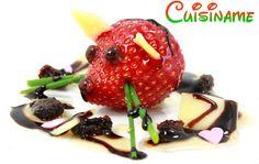 Original #Postre con Fresas, Queso y Miel. Deliciosa #Receta.