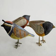 Paper Mache Birds by Suzette Merkley Hahn