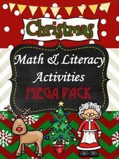 Perfect Christmas Math and Literacy Packet for my students! So cute! Packed with fun activities that are related to what I'm teaching right now. Love this!