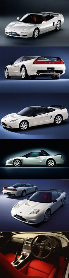 1990 Honda NSX / 1992 NSX-R / 2002 facelift / Japan / Type R / white red