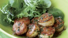 Recipe: Seared Scallops with Herb-Butter Pan Sauce - Recipe - FineCooking