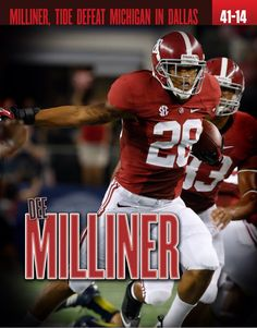Dee Milliner and Alabama defeat Michigan 41 - 14 graphic. Picture via the official digital game day program of Alabama football, the 2012 BCS Championship edition. Highlights from the Crimson Tide's National Championship season #Alabama #RollTide #BuiltByBama #Bama #BamaNation #CrimsonTide #RTR #Tide #RammerJammer #NationalChampions