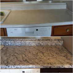 Amazing Countertops After Using Giani Granite White Diamond Kit With Some Black Onyx And Chocolate Brown