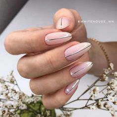 Delicate Manicure With Silver Strip ❤️ We showed you nude nail design in completely different light. It is your choice to pick the best one from the designs that are all extraordinary gorgeous! ❤️ See more: https://naildesignsjournal.com/terrific-nude-nail-design/ #naildesignsjournal #nails #nailart #naildesigns Almond Nails, Nail Studio, Oval Shape, Nail Designs, Beautiful, Beauty, Fashion, Nail Desings, Beleza