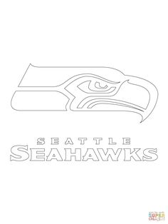 Logos coloring and google on pinterest for Seattle seahawks coloring pages