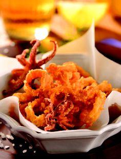 Calamares sal y pimienta con mayonesa al limón... ¡Deliciosos!