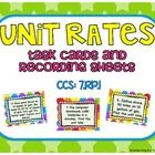 This set of 20 task cards covers adding and subtracting decimals in common core standard 7.RP.1. Student solve word problems involving unit rates. ...