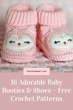 Come check out 16 Adorable Baby Booties & Shoes – Free Crochet Patterns! These Baby Booties and shoes are so adorable and this is so fun and easy to do! This artcle has many patterns that you and will Love alot!!! Have fun making your baby booties and shoes today!!! #KnittingProjects #CuteKnittingProjects #Projects #Knitting #Patterns Half Double Crochet, Single Crochet, Cute Crochet, Crochet Hooks, Dk Weight Yarn, Crochet Patterns, Knitting Patterns, Crochet Baby Booties, Knitting Projects