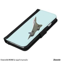 Concorde BOAB phone wallet case for iphone and Samsung Galaxy range Background color changeable when ordering