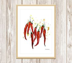 Red chili pepper, Watercolor Pepper, graphics print, Poster, Wall art, Art print, Gift, Home Decor, Digital Print, INSTANT DOWNLOAD.  This listing is for an INSTANT DOWNLOAD for JPEG file of this artwork.  Dimensions: 14 x 20 inch (35 x 50 cm) Resolution 300 dpi   Copyright IllustrationLili, 2015: All images, designs, and text are copyrighted and cannot be stored, reproduced, or used without obtaining prior written consent from the owner.