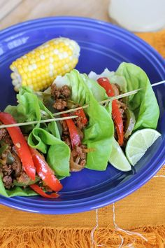Turkey Fajita Lettuce Wraps - a quick, easy, and healthy recipe that can be made any night of the week | #dinner #paleo