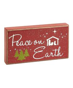Sweeten décor with this charming holiday box sign that offers a seasonal sentiment. A lovely way to accent a table or wall, it's sure to inspire a cozy and welcoming atmosphere while adding spirited whimsy to any Christmas collection.9'' W x 5'' H x 1.5'' DWood / metalReady to hangImp...