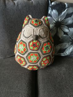 Autumnal colour owl, pattern from jo'scrocheteria
