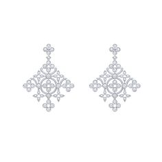 Louis Vuitton Dentelle de Monogram diamond earrings in white gold. Louis Vuitton Dentelle de Monogram diamond earrings in white gold. Bijoux Louis Vuitton, Diamond Solitaire Earrings, Diamond Stud, Diamond Jewellery, Collection Louis Vuitton, Kate Middleton, Black Gold Jewelry, Monogram Jewelry, Modern Jewelry