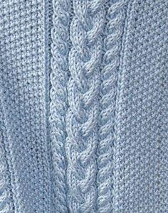 Caron International   Free Project   Little Boy Blue Baby Blanket
