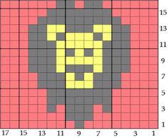 Bird hearts Bear: More Hexipuff Knitting Charts