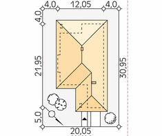 Projekt domu Aster 2 - usytuowanie na działce House Layout Plans, House Layouts, House Plans, Aster, Villa, Floor Plans, Peace, How To Plan, Moda Masculina