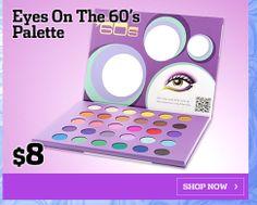 BLACK FRIDAY 2: Eyes On The '60s Eyeshadow Palette $8