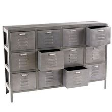 industrial 12 drawer unit repro of French factory furniture. by Lay industrial 12 drawer unit repro of French factory furniture. by Lay Industrial Drawers, Industrial Design Furniture, Industrial House, Industrial Interiors, Metal Furniture, Repurposed Furniture, Indian Furniture, Furniture Direct, Metal Drawers
