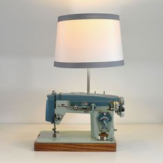 Zig Zag Sewing Machine Lamp now featured on Fab.