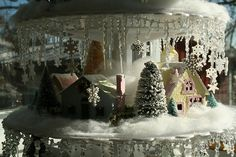 Putz houses by christmasnotebook, via Flickr