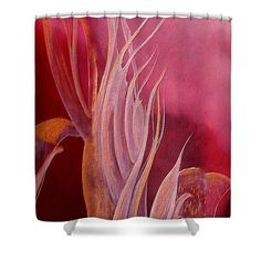 Ruby Melody Shower Curtain by Faye Anastasopoulou. This shower curtain is made from polyester fabric and includes 12 holes at the top of the curtain for simple hanging. The total dimensions of the shower curtain are wide x tall. Blankets For Sale, Soft Blankets, Fleece Blankets, Beautiful Modern Homes, Fancy Houses, Pattern Pictures, Curtains With Rings, Curtains For Sale
