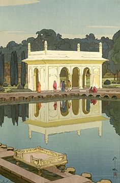 """Japanese Art Print """"Shalimar Garden, Lahore"""" from the India and Southeast Asia Series by Yoshida Hiroshi... http://www.amazon.com/dp/B01EPEJ1QK/ref=cm_sw_r_pi_dp_1UZhxb12WZ0FY"""