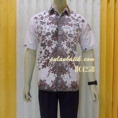Model baju batik seragam kerja untuk pria http://pulaubatik.com