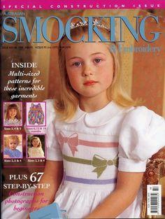 Australian Smocking & Embroidery Magazine Issue No 48 1999 Patterns Intact Girl Dress Patterns, Coat Patterns, Blouse Patterns, Skirt Patterns, Sewing Patterns, Smocking Tutorial, Smocking Patterns, Embroidery Patterns, Punto Smok
