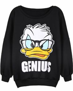 Sheinside Black Long Sleeve Donald Duck Print Sweatshirt (One-Size, Black) Sheinside,http://www.amazon.com/dp/B00HEAF5YU/ref=cm_sw_r_pi_dp_EhHntb0GGBDD6D5B