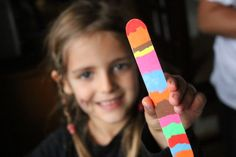 These vibrant chalk marker bookmarks are so quick and easy to make. They're a great craft for kids of all ages, especially if you love no-mess crafts that don't take a lot of time. #Kynsa #ChalkMarkers #LiquidChalk #ColourfulCrafts #KidsArt #ArtForKids #CraftSticks #KidsActivities #CraftsForKids #KidsCrafts #BookMarks #Homemade #MakeAndTrade #ArtCamp #EasyCrafts PreschoolCrafts #ToddlerCrafts #ToddlerArt #PreschoolArt