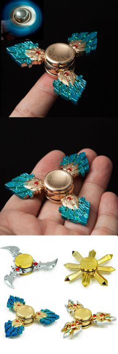 US$7.11 Metal Tri Hand Spinner Triangle Focus ADHD EDC Stocking Children Finger Toy