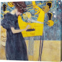 Music Painting Print on Wrapped Canvas